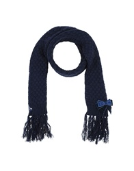 Duck Farm Oblong Scarves Dark Blue