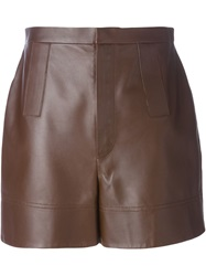 Givenchy High Waisted Shorts Brown