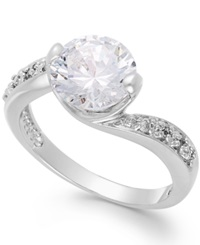 B. Brilliant Cubic Zirconia Ring In Sterling Silver 4 1 5 Ct. T.W.