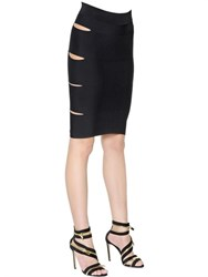 Alexandre Vauthier Cutout Stretch Viscose Knit Mini Skirt