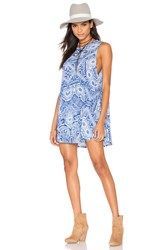 Show Me Your Mumu Garrett Tank Dress Blue