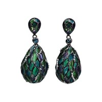 Bellus Domina London Blue Topaz Hive Earrings