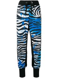 No Ka' Oi Zebra Print Track Trousers Black