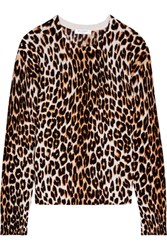Equipment Shirley Leopard Print Silk And Cashmere Blend Sweater Leopard Print