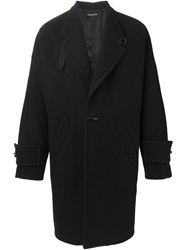 Alexandre Plokhov Strap Detail Single Breasted Coat Black