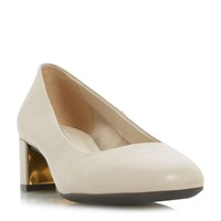 Linea Alston Low Block Court Shoes Beige