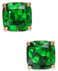 Kate Spade New York 14K Gold Plated Glittery Purple Square Stud Earrings Emerald