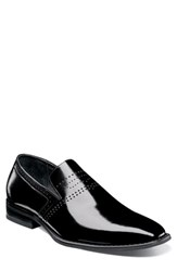 Stacy Adams Saunders Perforated Venetian Loafer Black Leather