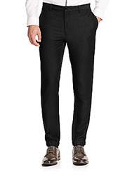 Saks Fifth Avenue Flat Front Casual Pants Black