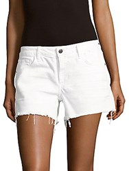 Hidden Jeans Solid Distressed Shorts Optic White