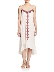 Twelfth St. By Cynthia Vincent Embroidered Cotton Dress Ivory