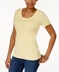 Charter Club Cotton Scoop Neck T Shirt Only At Macy's Lemon Yellow