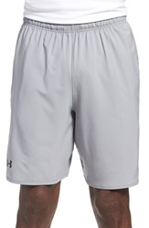 Men's Under Armour 'Qualifier' Heatgear Training Shorts Steel
