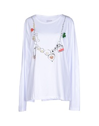 Rose' A Pois T Shirts White