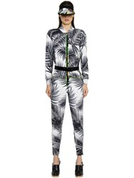 Max Mara Palms Printed Silk Twill Jumpsuit