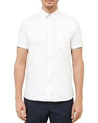 Ted Baker Gotgame Dobby Regular Fit Button Down Shirt White