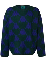 Kappa All Over Logo Sweater Green