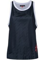 Perfect Moment Mesh Tank Women Polyester S Blue