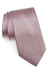 Nordstrom Men's Men's Shop Geometric Silk Tie Pink