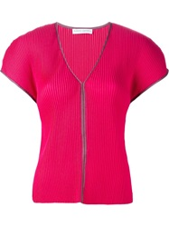 Barbara Casasola Pleated Top Pink And Purple