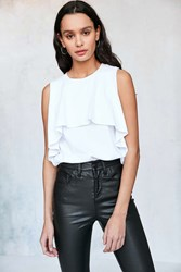 Ecote Flutter Overlay Muscle Tee White