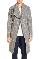 Kenneth Cole Women's New York Windowpane Wrap Coat