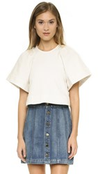 Rachel Comey Cropped Ravine Top Dirty White Wash