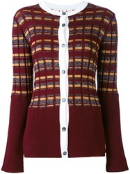 Marni Single Breasted Cardigan Women Nylon Polyester Acetate Virgin Wool 42