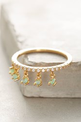 Anthropologie Dangling Opal Ring Mint