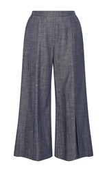 Piamita Harley Cropped Chambray Pants Blue