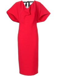 Roland Mouret Marianne Midi Dress Red