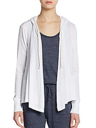 Candc California Hooded Jersey Cardigan White