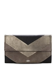 Vince Camuto Fitzi Texture Block Leather Clutch Oxford