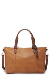 Sole Society Haili Faux Leather Tote Brown Cognac