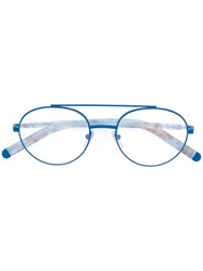 Retrosuperfuture Numero 32 Glasses Metal Other Acetate Blue