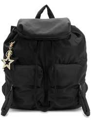 See By Chloe Star Embellished Backpack Cotton Polyester Polyvinyl Acetate Pva Black