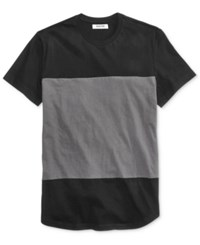 Kenneth Cole Reaction Men's Colorblocked Cotton T Shirt Black