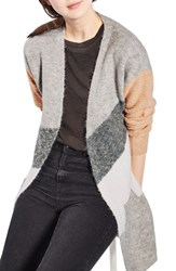 Topshop Women's Diagonal Colorblock Cardigan