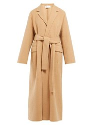The Row Amoy Single Breasted Cashmere Blend Coat Camel