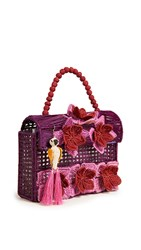 Mercedes Salazar Woven Satchel Purple Pink