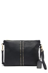 Sole Society Bayle Faux Leather Clutch Black