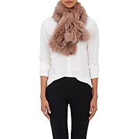 Barneys New York Women's Fox Fur Pull Through Scarf Pink