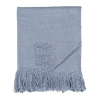 Dkny Mohair Look Throw Blue