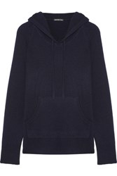 James Perse Cashmere Hooded Top Navy