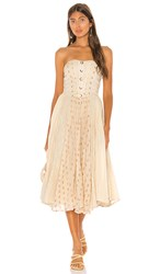Free People Amanda Midi Dress In White. Ivory