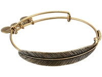 Alex And Ani Quill Feather Wrap Rafaelian Gold Finish Bracelet