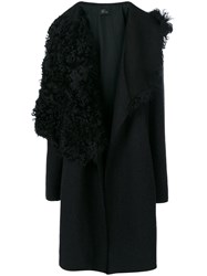Lost And Found Ria Dunn Oversized Textured Jacket Men Cotton Lamb Skin Wool S Black