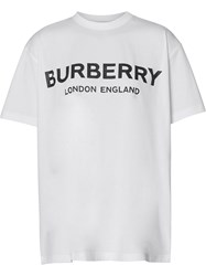 Burberry Logo T Shirt White