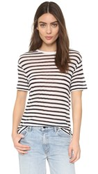 Alexander Wang Striped Tee Ink And Ivory