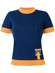 Prada Knitted Top Blue